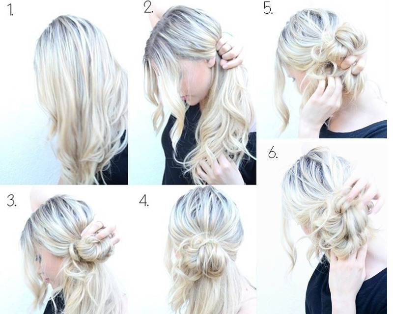 Cute Messy Buns Step By Step