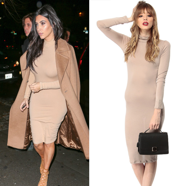 61ad30f3f16 A cute trumpet skirt is a great piece to rock on a night out with the  hubby! Channel Kim Kardashian in this all-black ensemble by rocking our  Plain But ...