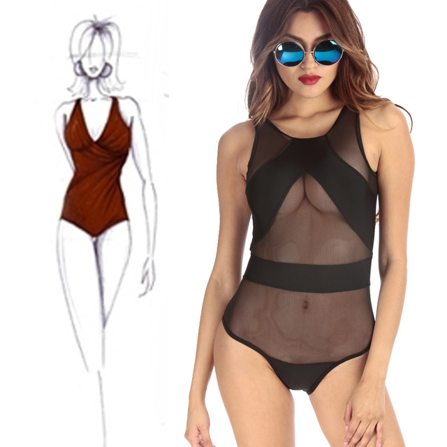 8d303de2e9f5f Long torsos can be difficult to work around with when it comes down to  swimwear but One Piece bathing suits can help! Our Mesh Panel One Piece  Swimsuit is a ...
